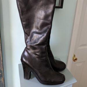 """Aerosoles """"Division"""" black leather boots NIB 12M"""